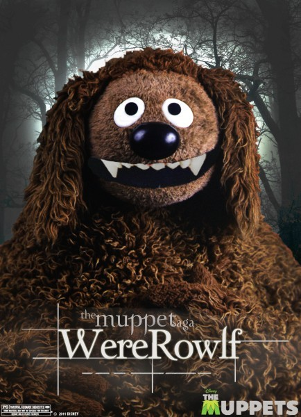 Rowlf nei panni di WereRowlf in una parodia di Twilight nella locandina de I Muppet