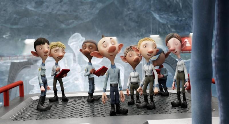 Una scena tratta dal film natalizio Arthur Christmas: Il figlio di Babbo Natale in 3D