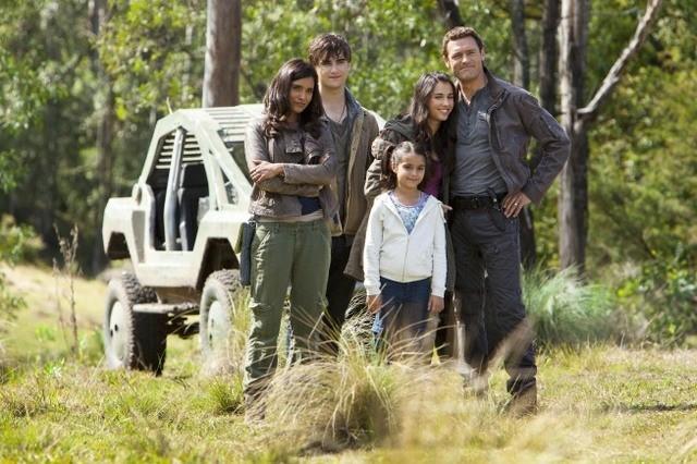 Terra Nova: la famiglia Shannon nell'episodio Now You See Me