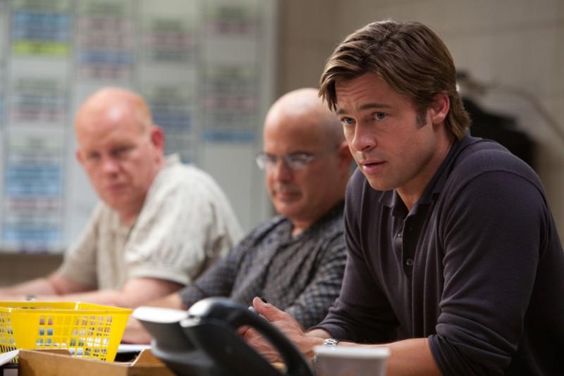 Brad Pitt in un'immagine tratta dal film L'arte di vincere - Moneyball