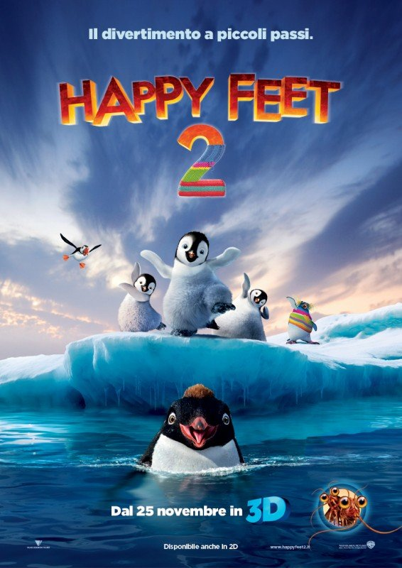 Happy Feet 2 in 3D: la locandina italiana