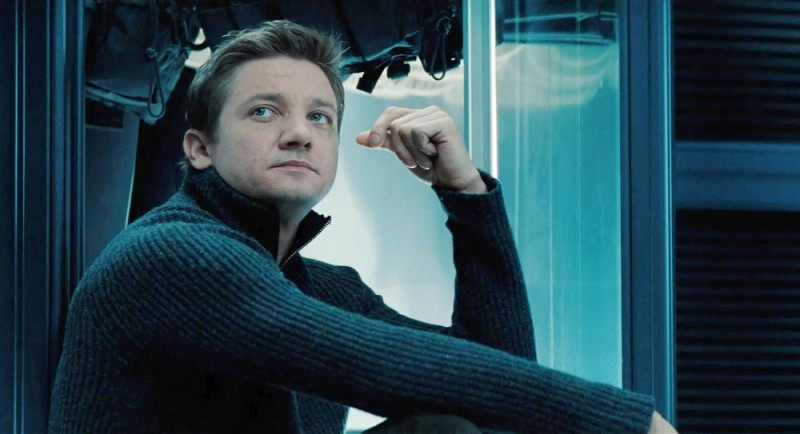 Jeremy Renner in una scena di Mission: Impossible - Protocollo Fantasma