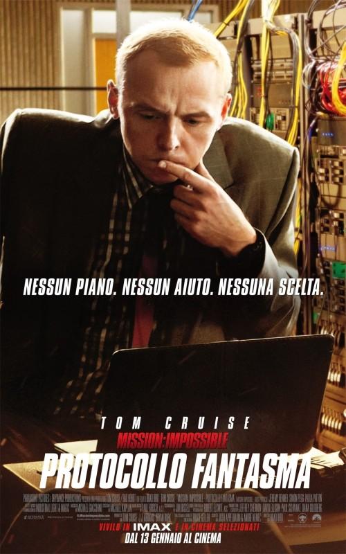 Mission: Impossible - Protocollo Fantasma, il character poster italiano del film con Simon Pegg