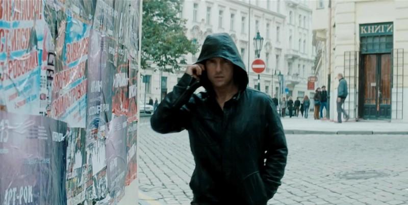 Tom Cruise in un'immagine tratta dal film Mission: Impossible - Protocollo Fantasma