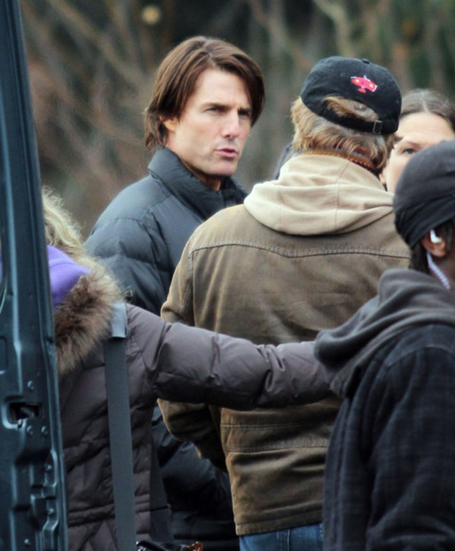 Tom Cruise sul set di Mission: Impossible - Protocollo Fantasma