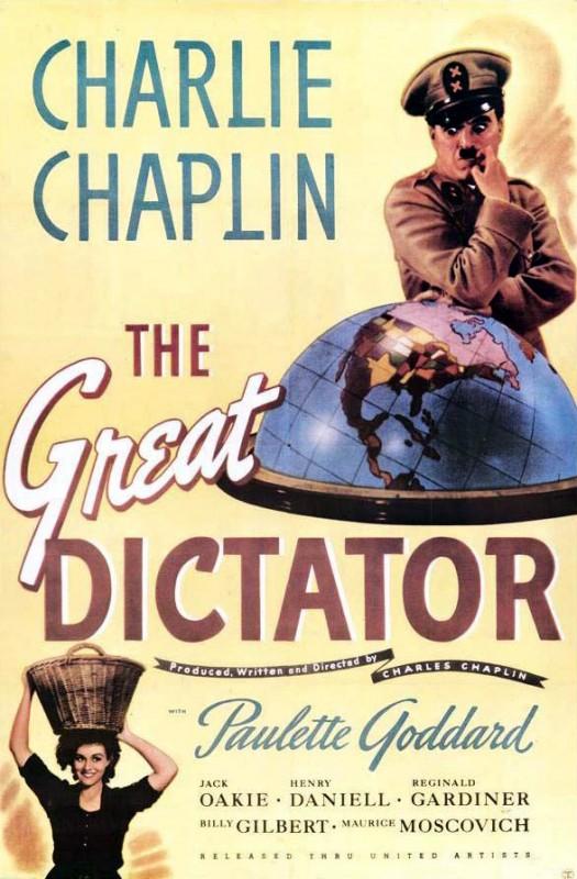 Locandina originale di The Great Dictator