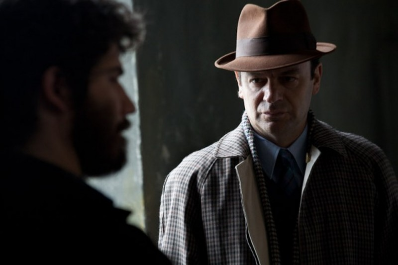 Denis Fasolo insieme a Diego Ribon in una scena di Romanzo di una strage