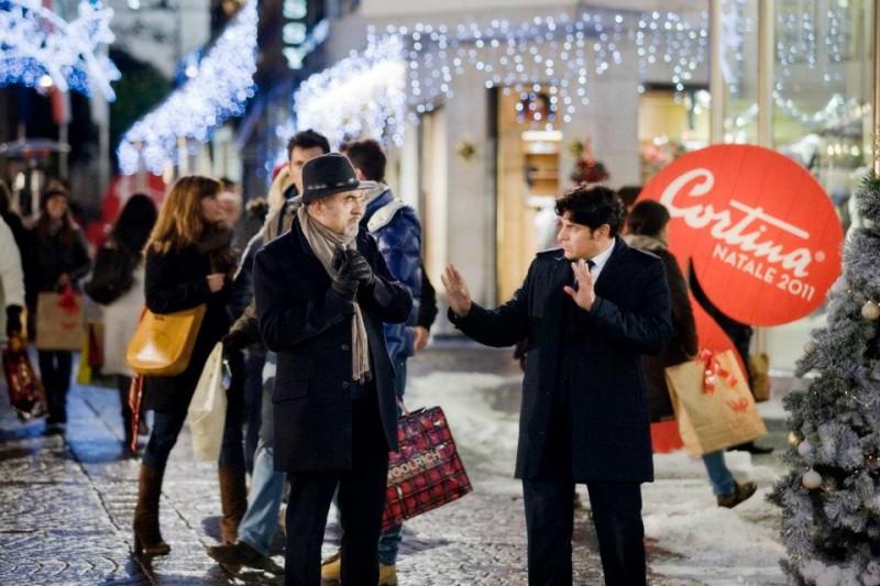 Ivano Marescotti e Dario Bandiera in una scena di Vacanze di Natale a Cortina
