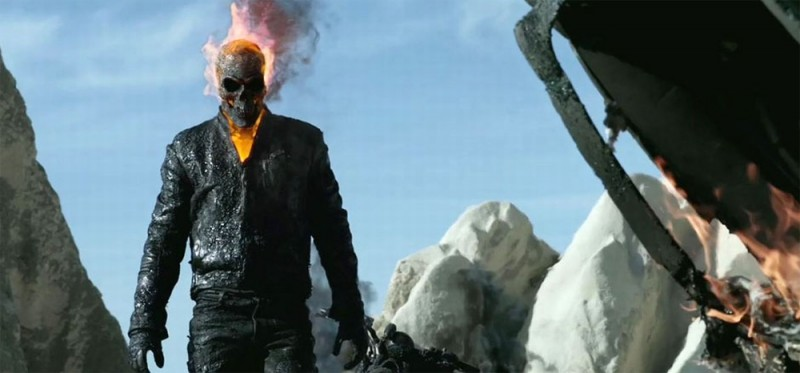 Ghost Rider: Spirit of Vengeance, il fantasma motociclista in un'immagine tratta dal film
