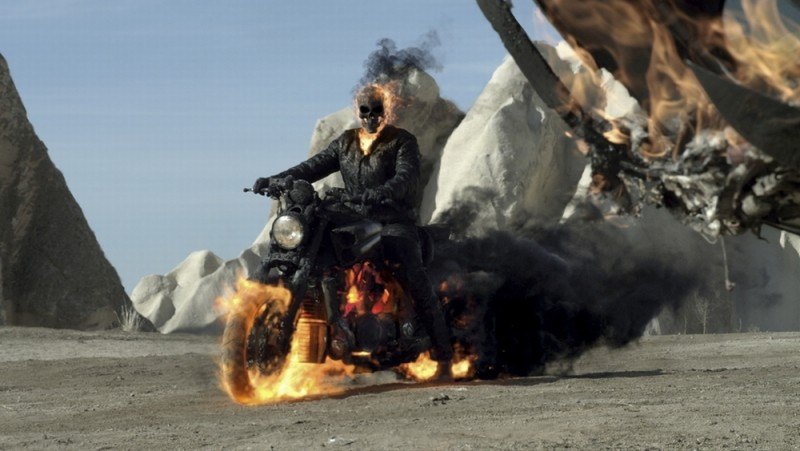 Ghost Rider: Spirit of Vengeance, il fantasma motociclista in una scena del film