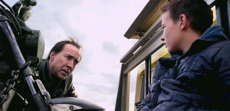 Ghost Rider: Spirit of Vengeance, Nicolas Cage e Fergus Riordan in una scena del film