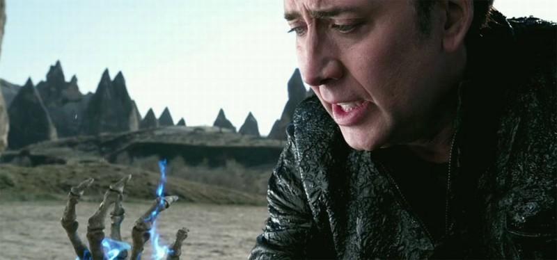 Ghost Rider: Spirit of Vengeance, Nicolas Cage in una drammatica scena del film