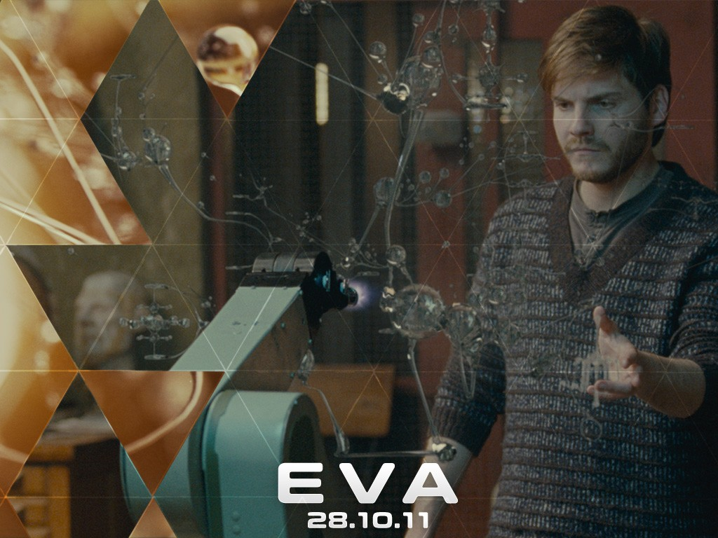 Un wall paper del film Eva con Daniel Brühl