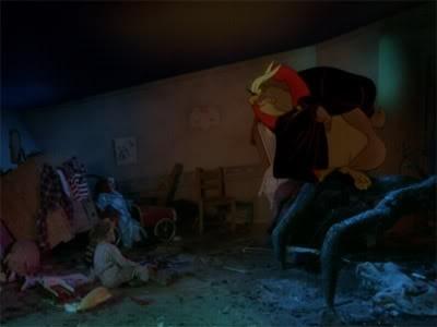 Eddy e la banda del sole luminoso: Toby Scott Ganger con il Gran Gufo in una scena