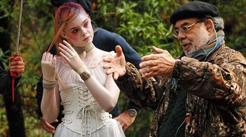 Francis Ford Coppola ed Elle Fanning sul set di Twixt