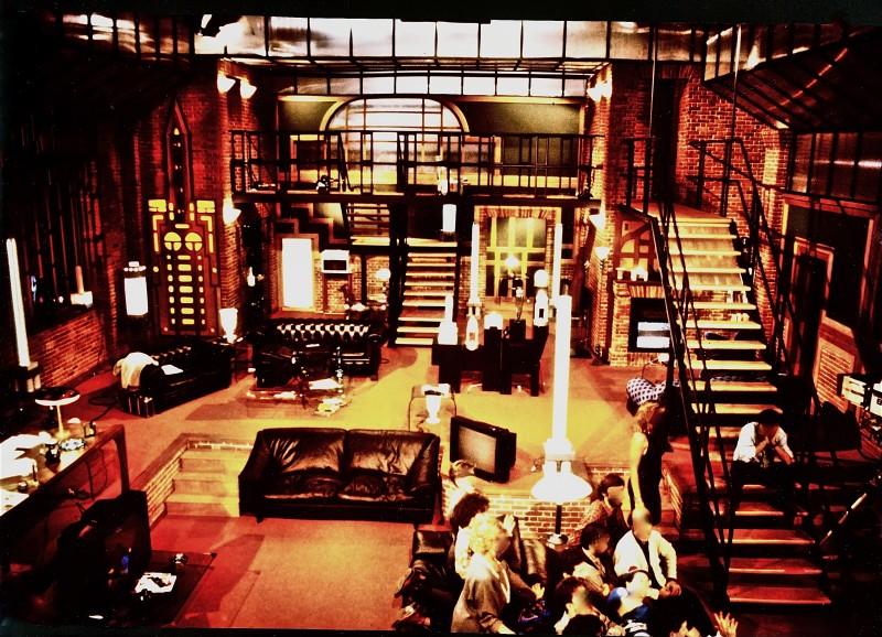 scenografia per il programma T'Amo TV realizzata da Giuseppe Pirrotta.