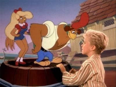 Toby Scott Ganger con Chanticleere Goldie in una scena di Eddy e la banda del sole luminoso