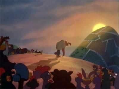 Una sequenza di Eddy e la banda del sole luminoso