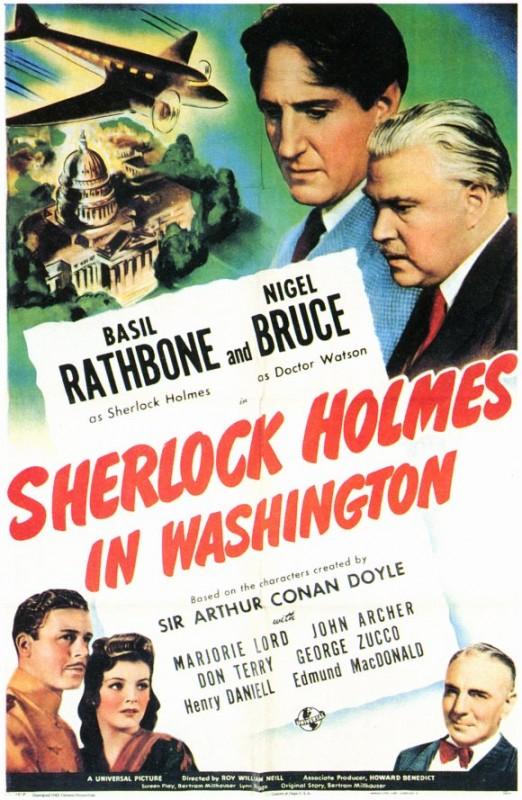 Sherlock Holmes in Washington - locandina