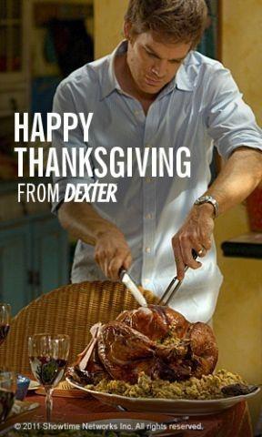 Dexter: un'immagine promozionale per la festa del ringraziamento