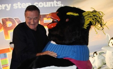 Happy Feet 2: Robin Williams alla première londinese del film di George Miller
