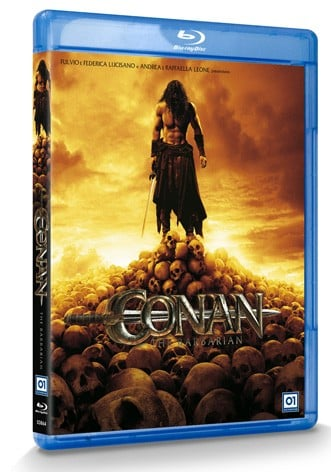 La copertina di Conan the Barbarian in 3D (blu-ray)