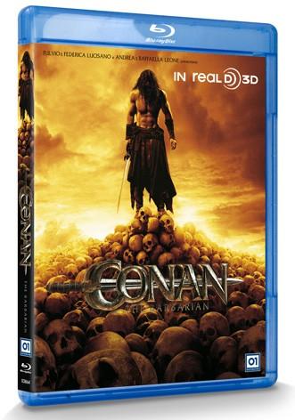 La copertina di Conan the Barbarian in 3D (Real 3D) (blu-ray)