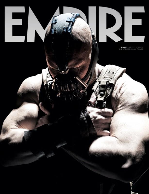 Tom Hardy nei panni del terrificante Bane sulla copertina di Empire dedicata a Il cavaliere oscuro - Il ritorno