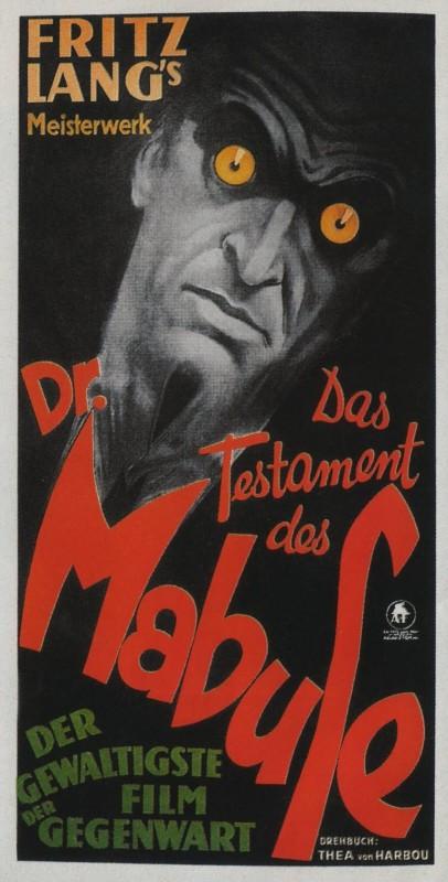 Il testamento del dottor Mabuse: la locandina del film