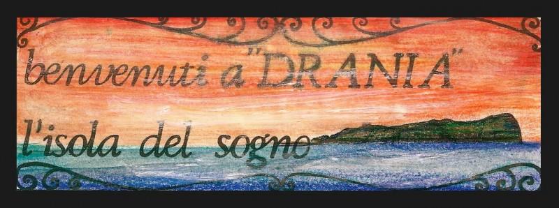 Un Amore Sconosciuto: Bozzetto del Manifesto dell'isola di Drania realizzato da Giuseppe Pirrotta