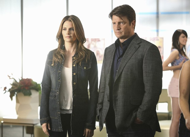Castle: Nathan Fillion e Stana Katic nell'episodio Head Case