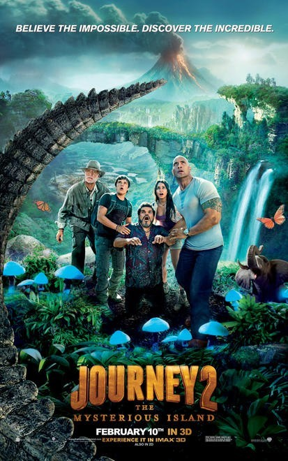 Journey 2: The Mysterious Island: secondo poster USA