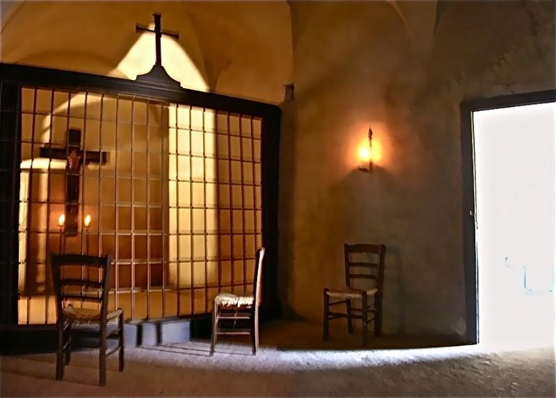 La Duchessa di Langeais - scenografia del parlatoio delle monache realizzata da G. Perrotta