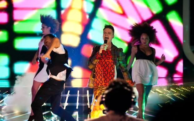X-Factor 5: un momento dell'esibizione di Davide Papasidero nella terza puntata