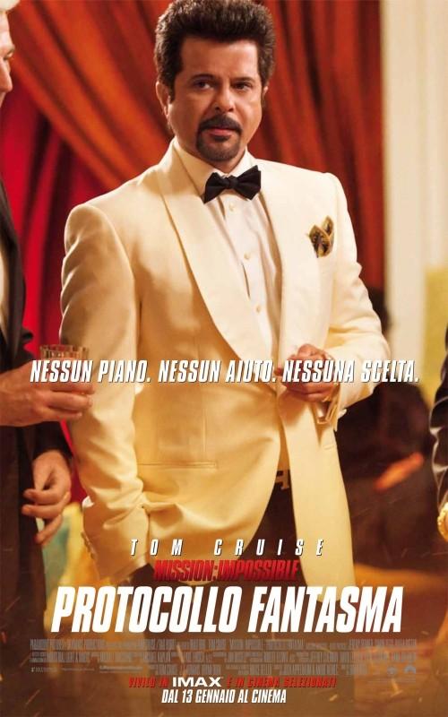 Anil Kapoor nel character poster italiano di Mission: Impossible - Protocollo Fantasma