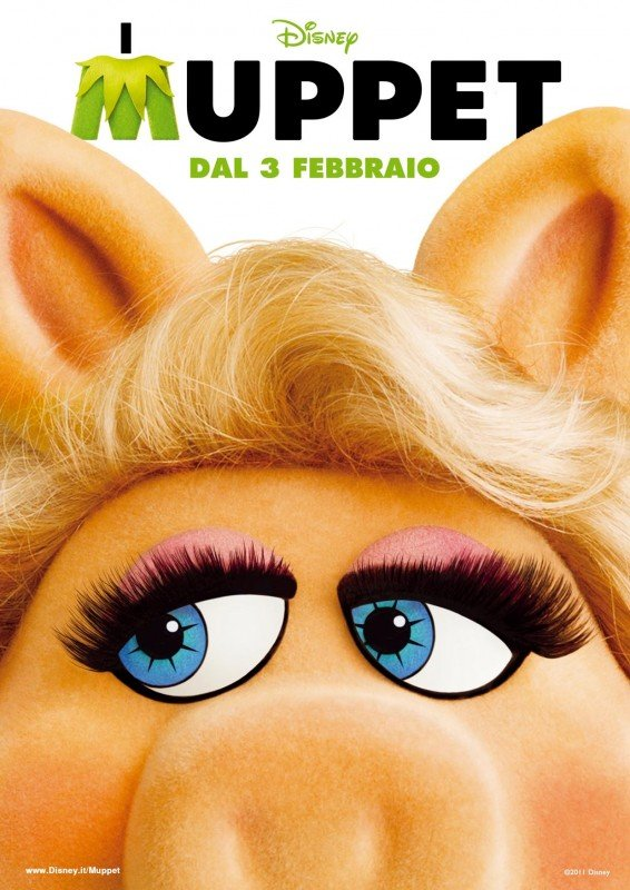I Muppet: il character poster italiano con Miss Piggy