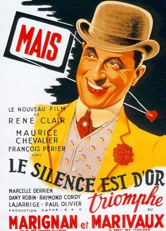 Il silenzio è d'oro: la locandina del film