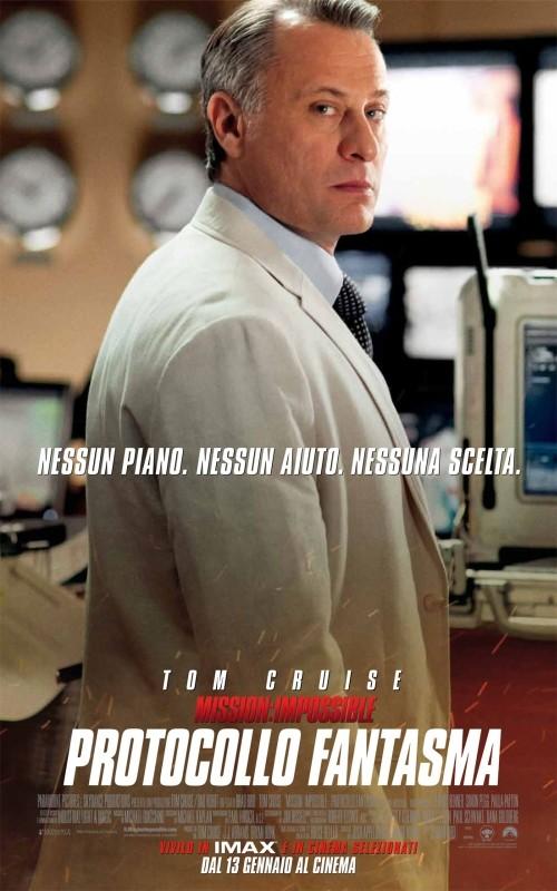 Michael Nyqvist nel character poster italiano di Mission: Impossible - Protocollo Fantasma