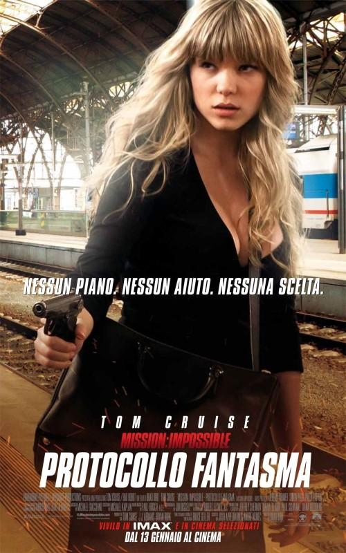 Mission: Impossible - Protocollo Fantasma, Léa Seydoux nel character poster italiano del film