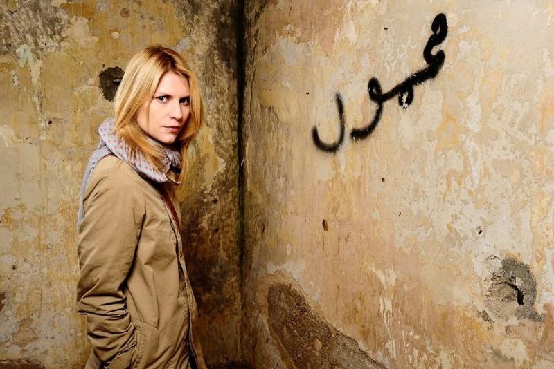 Claire Danes in un'immagine promozionale di Homeland