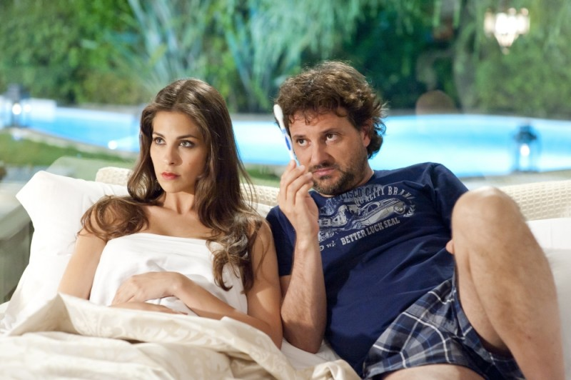Leonardo Pieraccioni e Ariadna Romero sul set di Finalmente la felicità