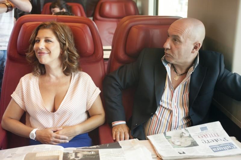 Michela Andreozzi e Maurizio Battista sul set di Finalmente la felicità