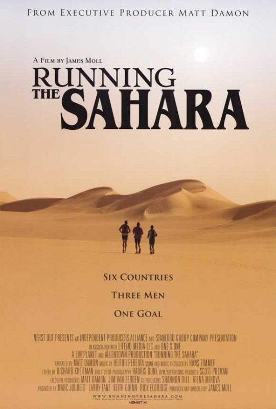 Running the Sahara: la locandina del film