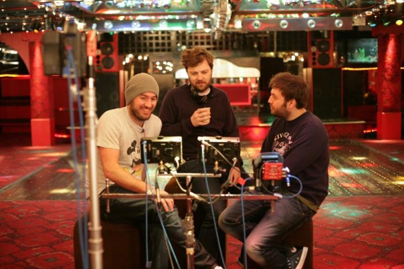 Il regista di Finalmente maggiorenni, Ben Palmer, insieme ai due sceneggiatori Iain Morris e Damon Beesley