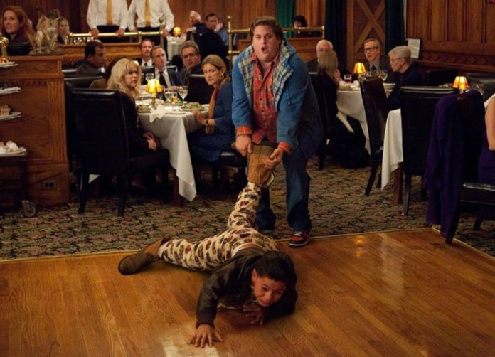 Jonah Hill in The Sitter con Kevin Hernandez