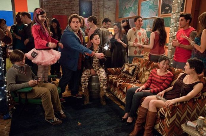 Jonah Hill in The Sitter con Kevin Hernandez, Landry Bender e Max Records.