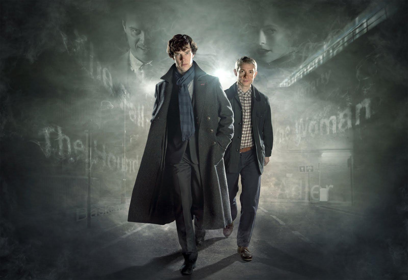 Sherlock: Martin Freeman e Benedict Cumberbatch in un wallpaper della stagione 2
