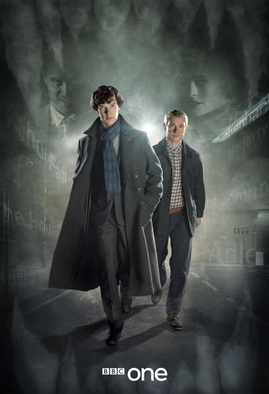Sherlock: Martin Freeman e Benedict Cumberbatch in una prima immagine promozionale della stagione 2