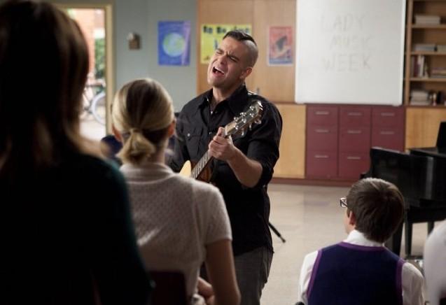 Glee: Mark Salling in una scena dell'episodio Le elezioni