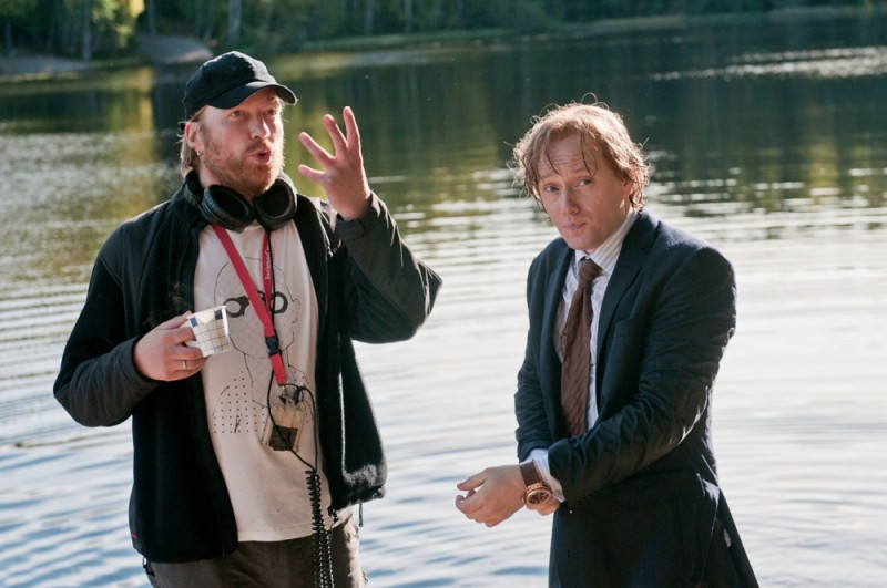 Headhunters: Aksel Hennie insieme al regista Morten Tyldum sul set del film